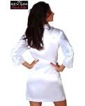 Kimono Sexy Satin Blanc - Marque Revisim